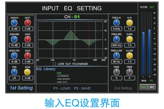输入EQ设置界面